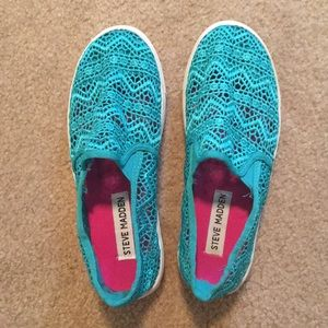 Blue Lace Steve Madden Sneakers